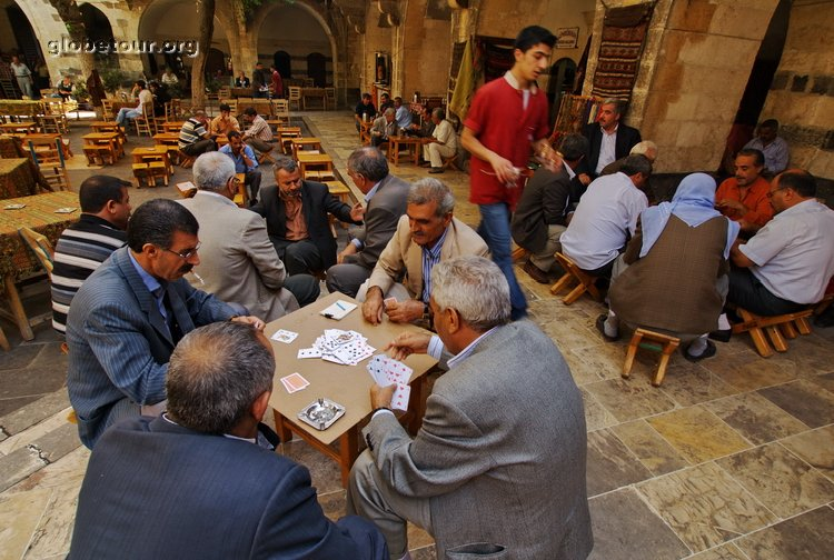 Turkey, Sanliurfa, tea place
